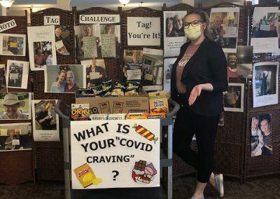 COVID Craving Cart Event at Oshawa Retirement Home