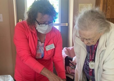 Planting with Elizabeth at Barrie Retirement Home