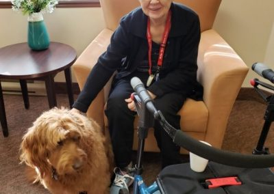 Therapy Dog at Belleville Retirement Home