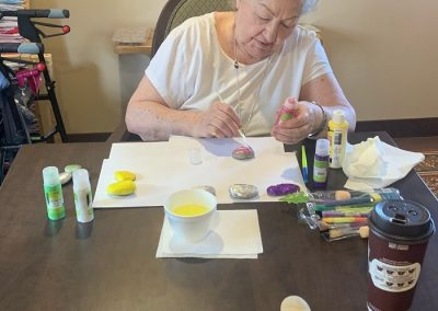 Barrie Retirement Home Painting Activity