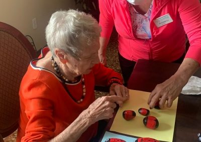 Painting Activity at Barrie Retirement Home