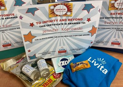 Hero Day Bag Cert and Gift by Barrie Retirement Home
