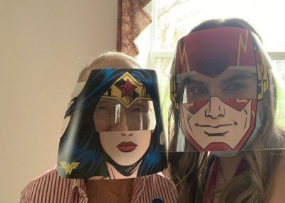 Hero Day Super Girls at Barrie Retirement Home