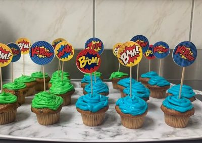 Hero Day Cup Cakes at Barrie Retirement Home