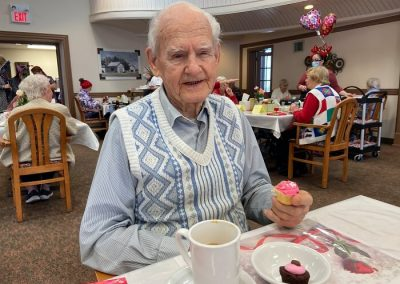 Valentine's Day Party at Belleville Retirement Home