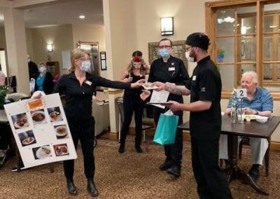Food Contest Winner Regan Tantilizing Entrée at Barrie Retirement Home