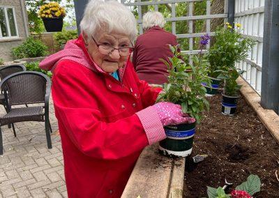 Spring Planting Activity at Belleville Retirement Home