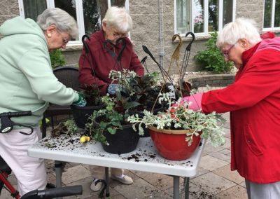 Spring Planting Activity at for Senior at Belleville Retirement Home