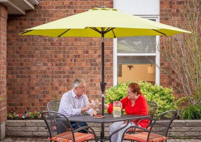 Entry Patio of Pickering Retirement Home